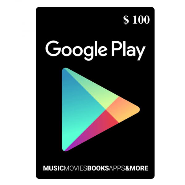 Google Play Gift Card 100 $ (USD) – Email Delivery