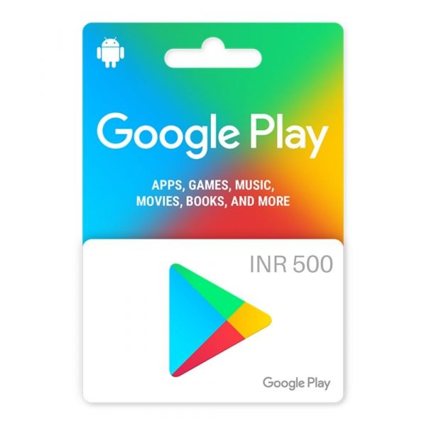 Google Play Gift Card 500 (INR) – Instant Email Delivery